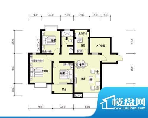 胜宏尚郡A-1户型 副面积:0.00m平米