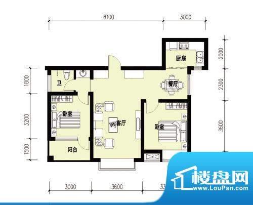 胜宏尚郡A-2户型 副面积:0.00m平米