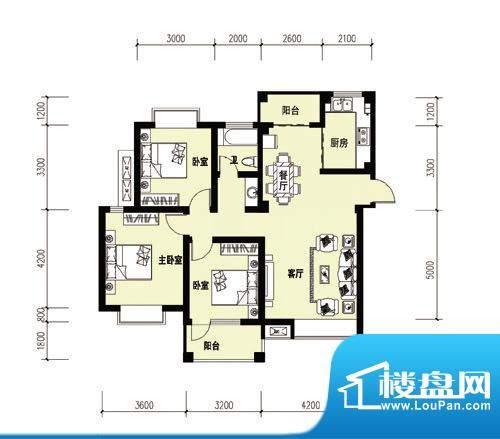胜宏尚郡B-1户型 副面积:0.00m平米