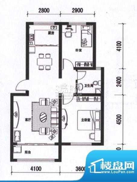 海通时代康桥两室两面积:0.00m平米