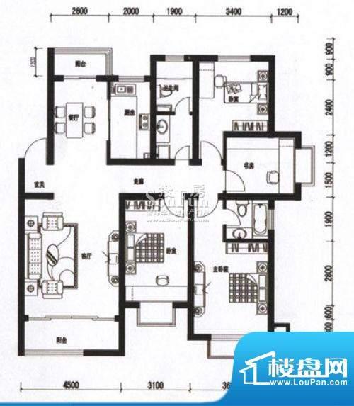 海通时代康桥四室两面积:0.00m平米
