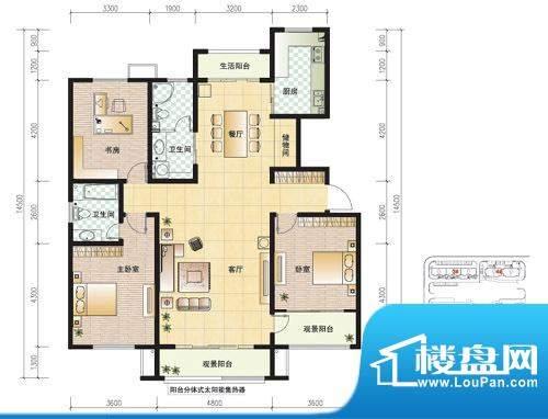 东营市天昊梅园B户型面积:0.00m平米