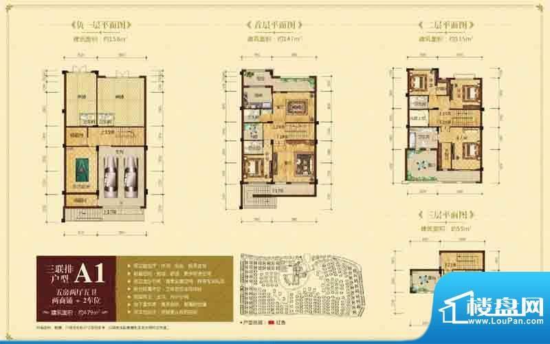 隆江新城三联排A1 5面积:479.00m平米