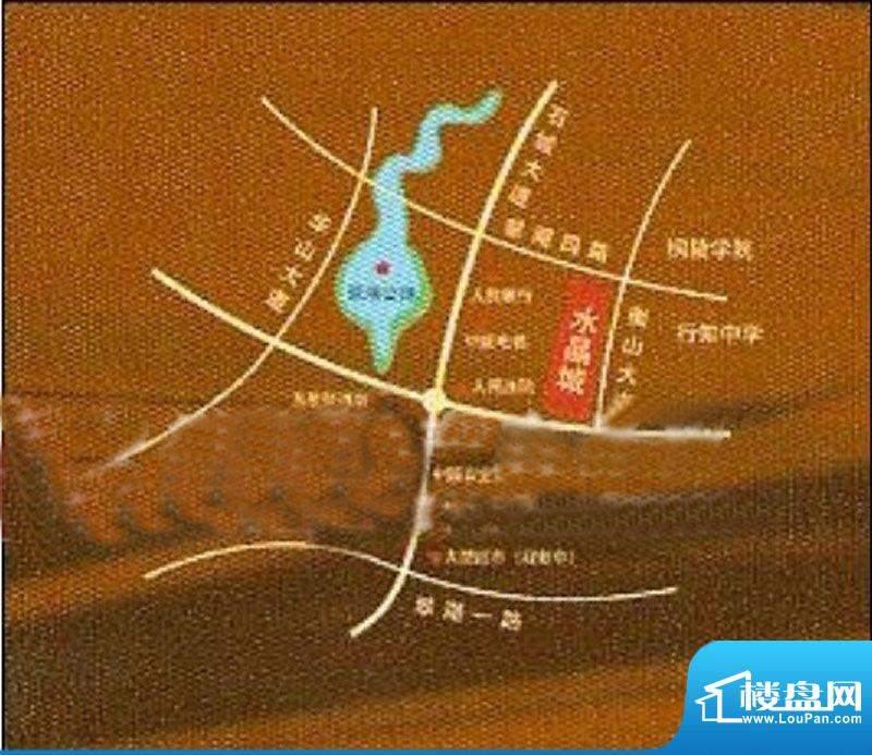 万泰·水晶城交通图