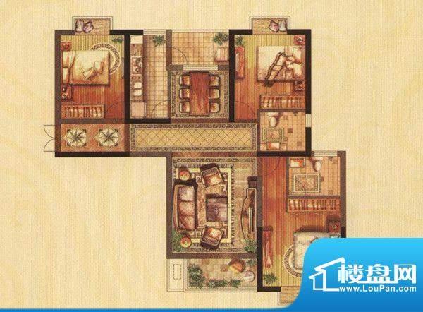 铜都公馆明月居D户型面积:127.00m平米