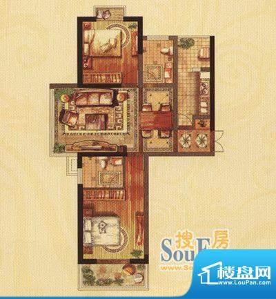 铜都公馆翡翠湾A户型面积:102.00m平米
