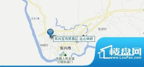 东兴边贸中心交通图