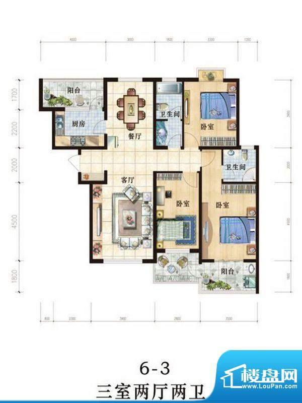 世纪国宏户型图 3室面积:0.00m平米