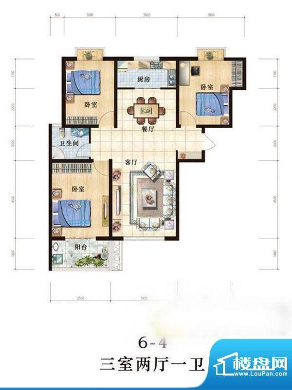 世纪国宏 户型图 3室面积:0.00m平米