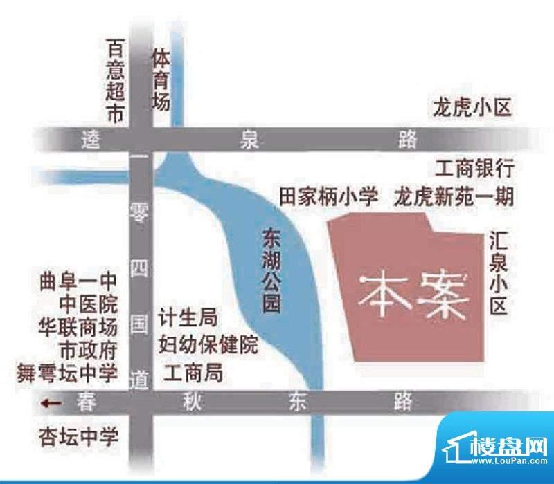 富贵名苑交通图