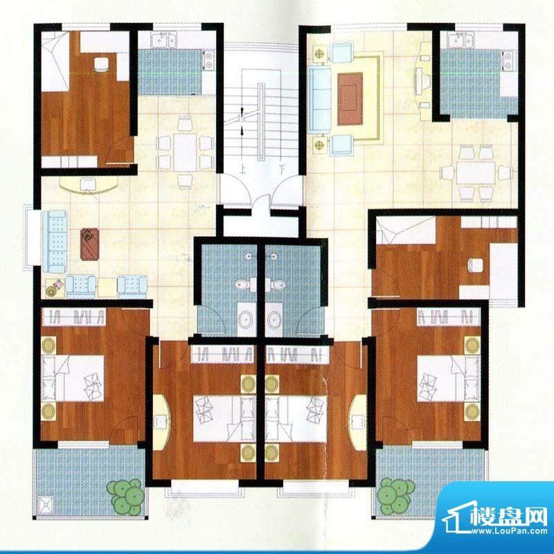 富贵名苑B户型 3室2面积:108.00m平米