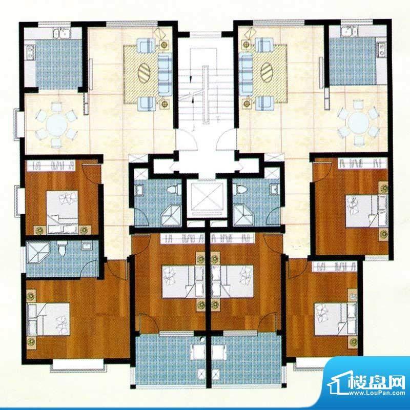 富贵名苑D户型 3室2面积:121.00m平米