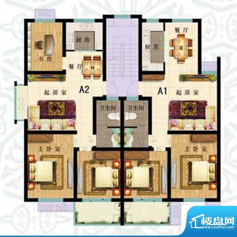 如意花园A户型 3室2面积:100.56m平米
