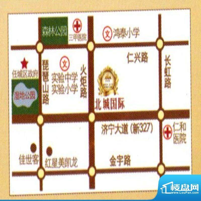 北城国际交通图
