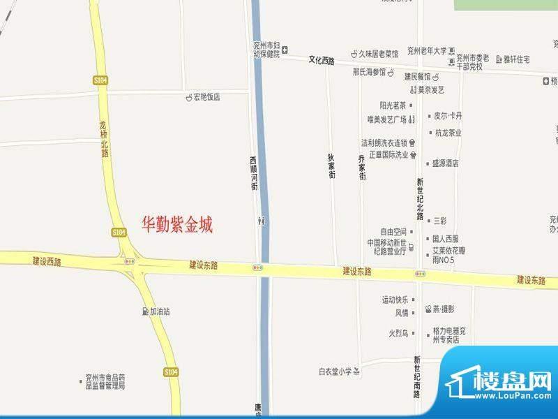 华勤紫金城交通图