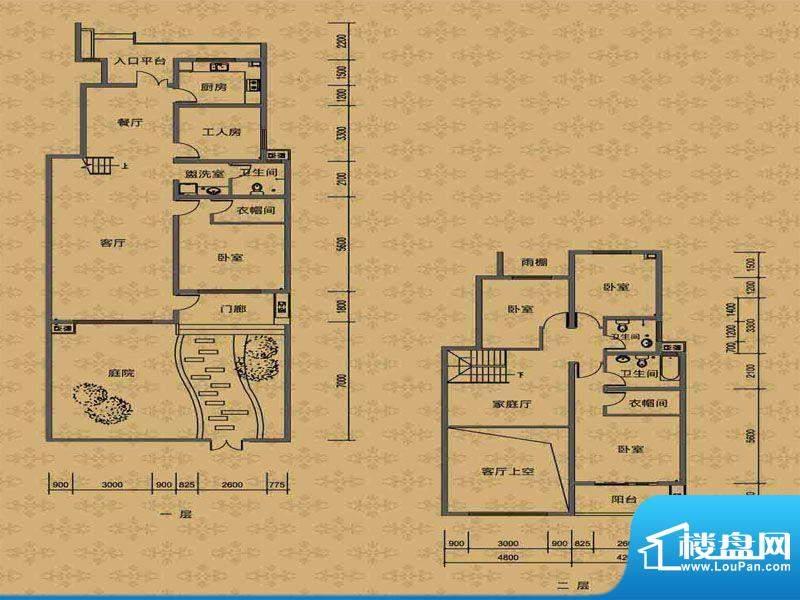 华勤紫金城花园洋房面积:137.00m平米