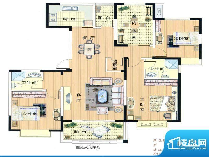 君临华庭2、3号楼经面积:153.00m平米