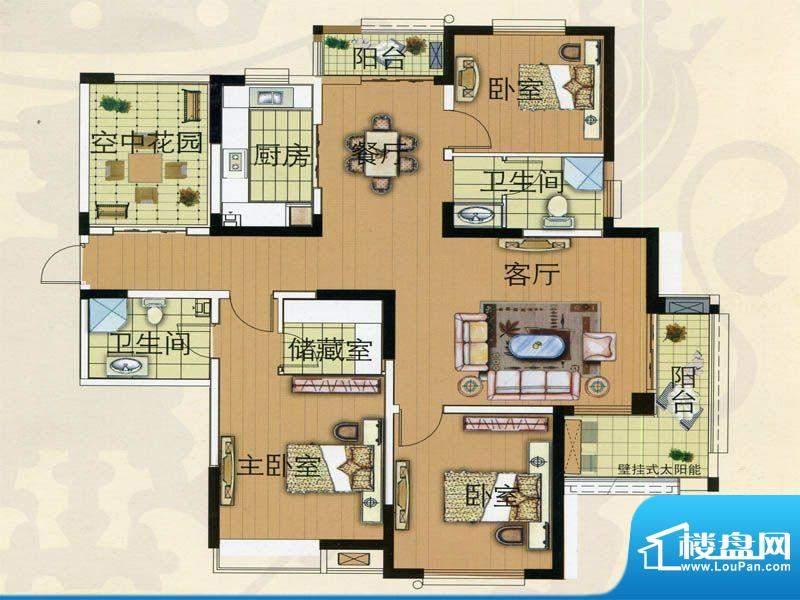 君临华庭高层公寓1号面积:145.00m平米