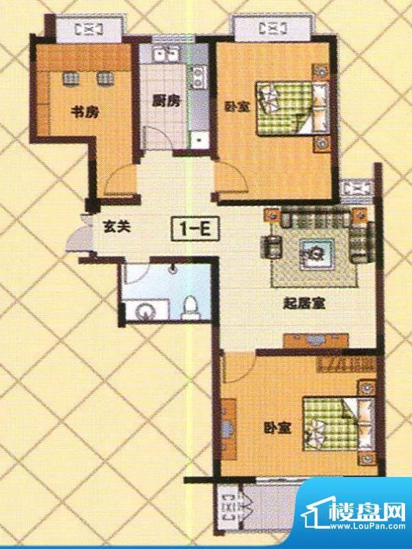 富邦新都D户型 3室2面积:107.00m平米