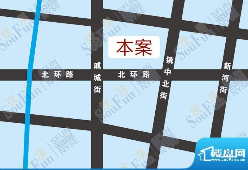 微山湖建材装饰城交通图