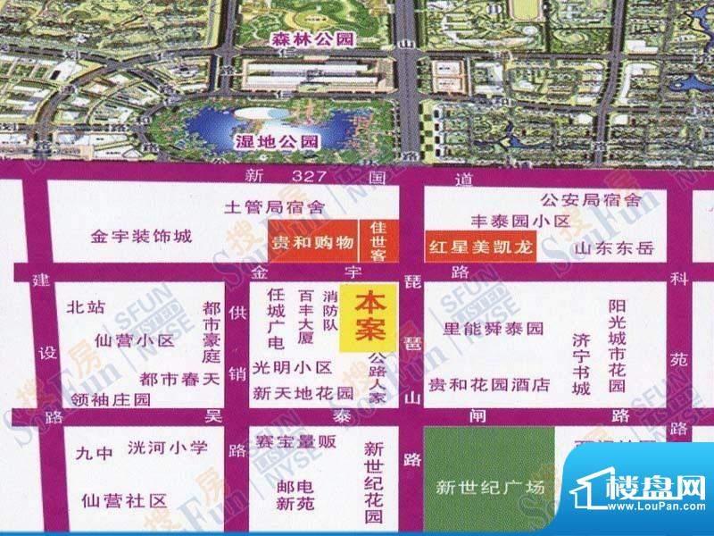 贵熙园交通图