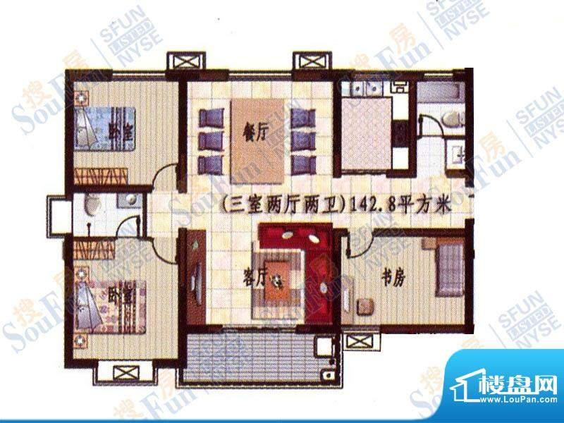 贵熙园B座高品质生活面积:142.80m平米