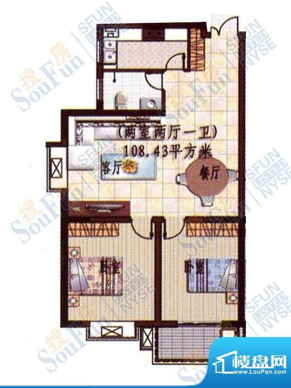 贵熙园B座高品质生活面积:108.43m平米