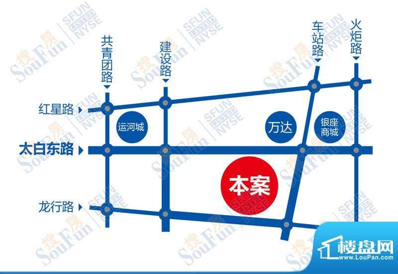 江苏大厦交通图