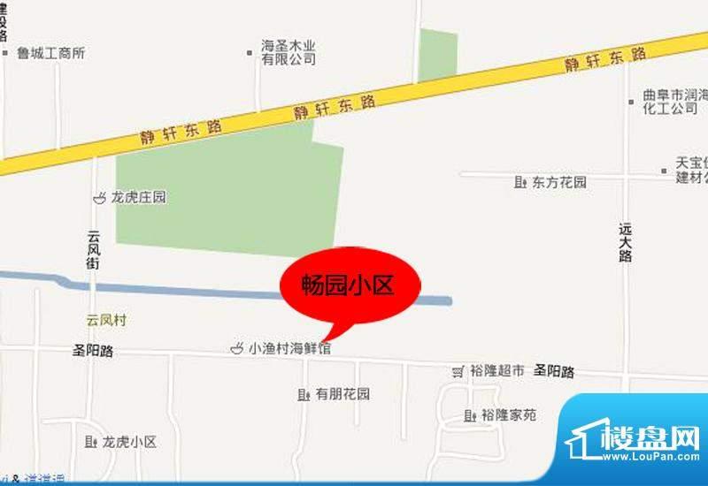 畅园小区交通图