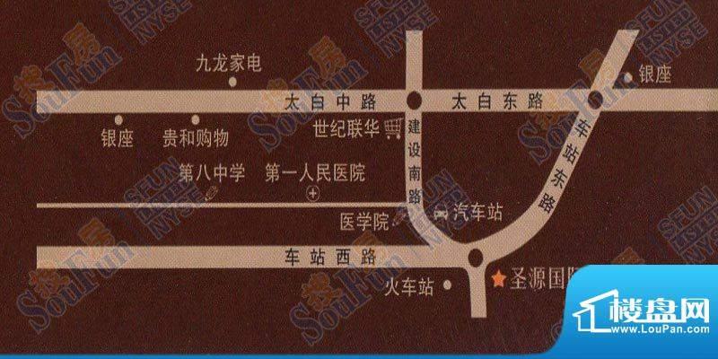 圣源国际大厦交通图