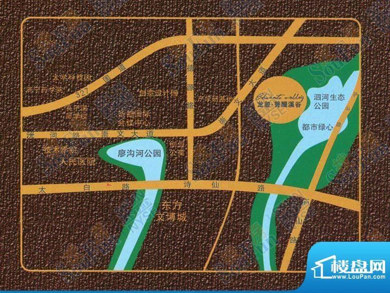 龙玺·香醍溪谷交通图