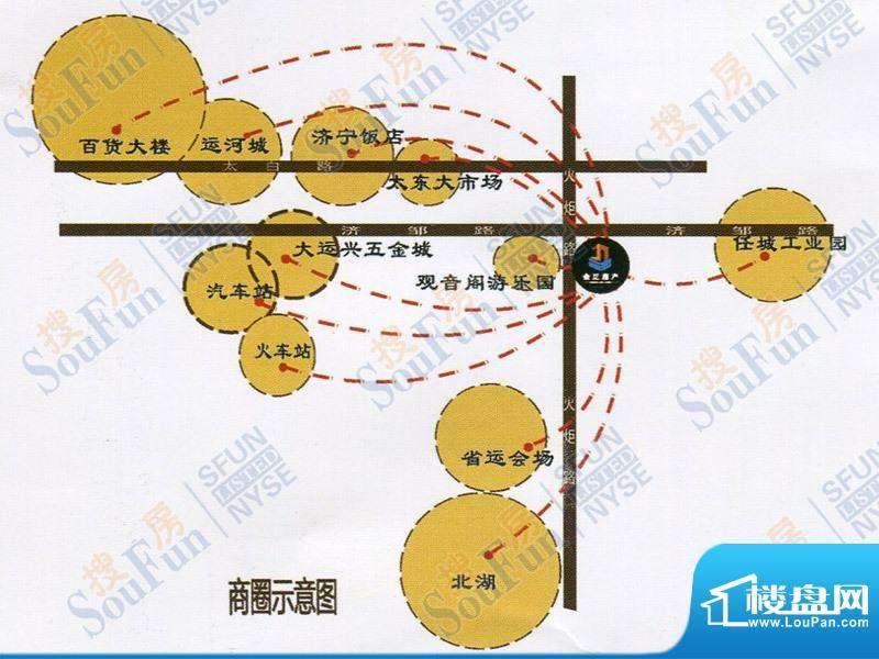 金正广场交通图