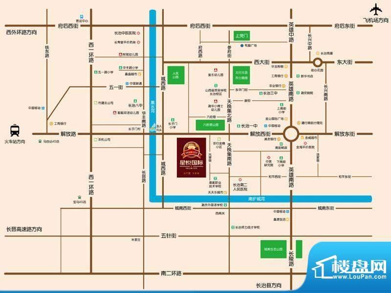 星悦国际交通图