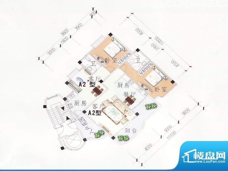 新都香格里拉户型图面积:0.00m平米