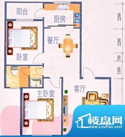 时代华庭户型图3 面积:0.00m平米