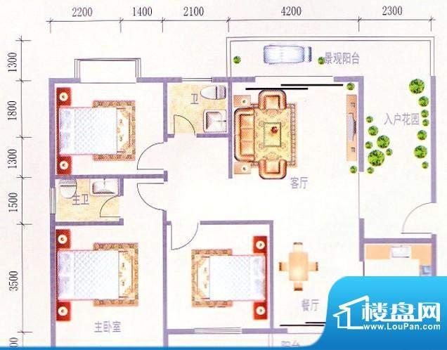 时代华庭户型图2 面积:0.00m平米