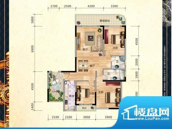 滨江公馆户型图3 面积:0.00m平米