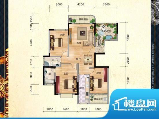 滨江公馆户型图2 面积:0.00m平米