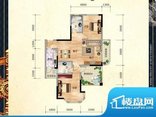 滨江公馆户型图 面积:0.00m平米