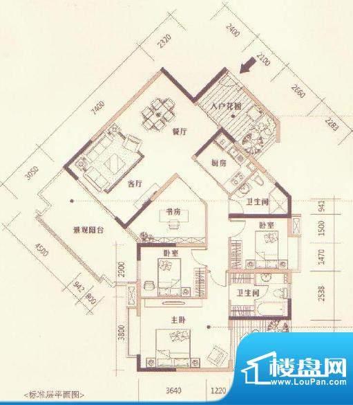 厦王奥利華園户型图面积:0.00m平米