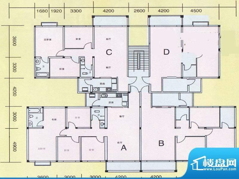 精通商住区户型图2 面积:0.00m平米