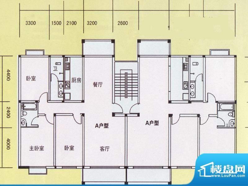 精通商住区户型图1 面积:0.00m平米