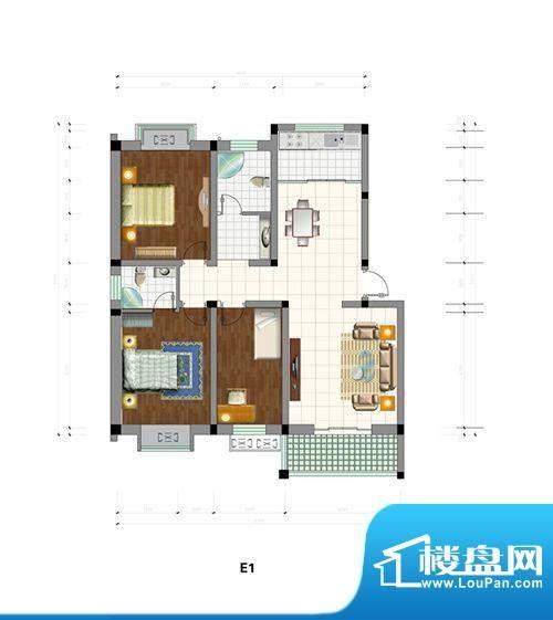 中建·城市花园户型面积:117.56m平米
