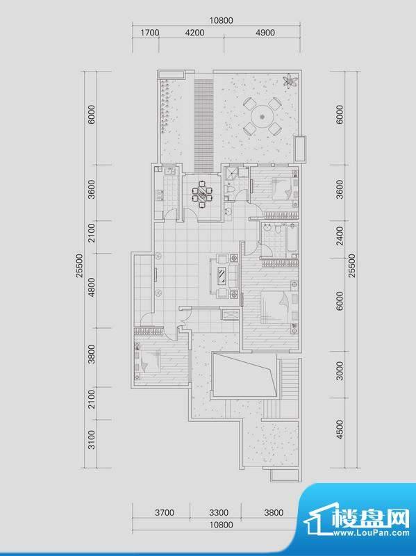 上城国际洋房19号楼面积:138.43平米