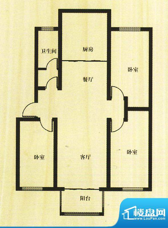 香颂湾二期13、14号面积:119.55平米