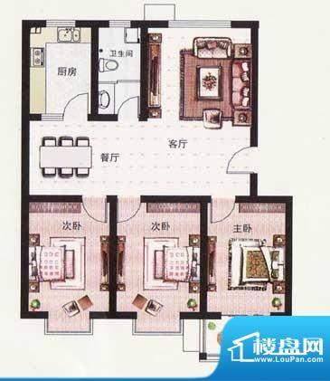 纳福馨城二期多层住面积:108.50平米