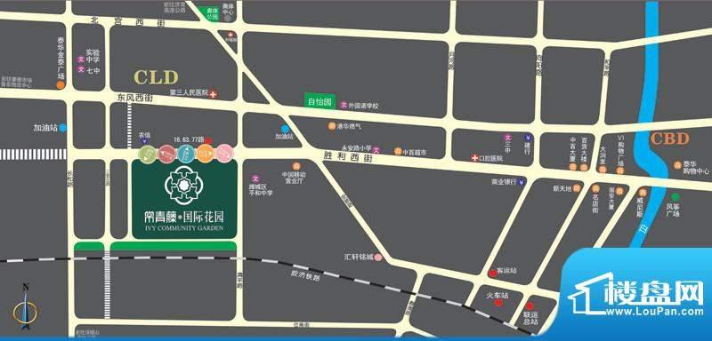 常青藤国际花园位置图