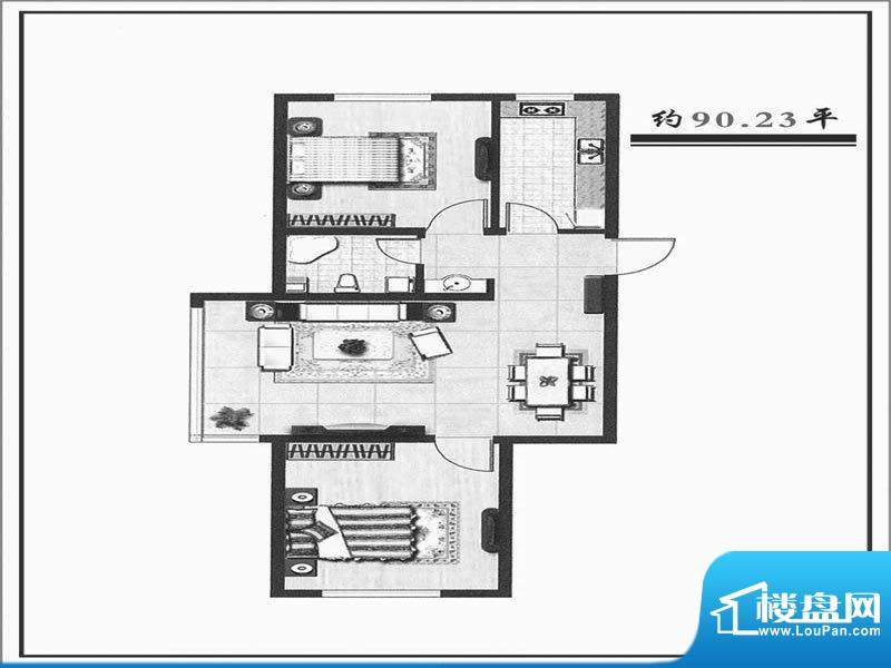 天成家园90西90.0面积:90.00m平米