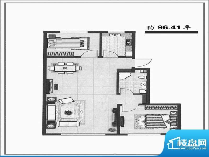 天成家园105西(96.4面积:105.00m平米