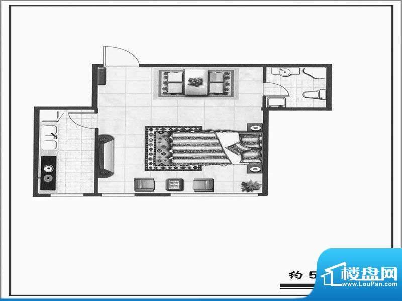 天成家园户型图(52.面积:52.64m平米